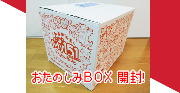 ポケモン「おたのしみBOX」の内容 中身を公開!